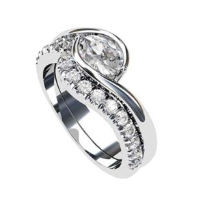 Fitted Cut Down Set Wedding Ring 1 2