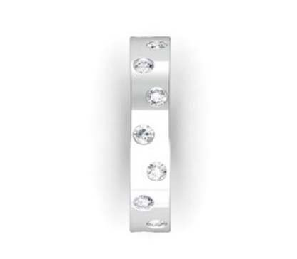 Flat flush set diamond ring 5