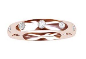 Flush set rose gold wedding ring 2