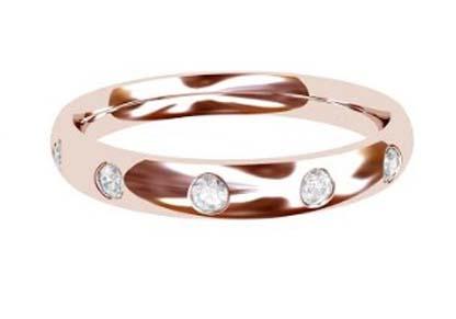 Flush set rose gold wedding ring 5