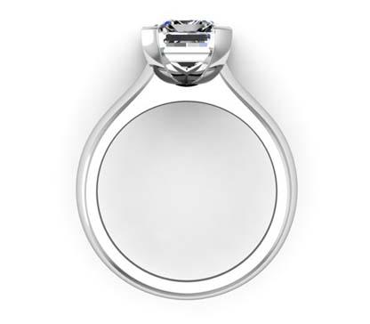 Four Claw Three Carat Emerald Cut Solitaire Diamond Ring 3 2