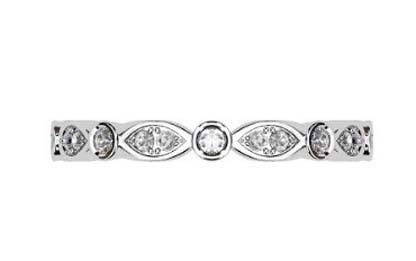 Full Band Eclipse Diamond Wedding Ring 2