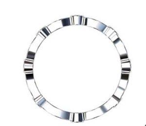 Full Band Eclipse Diamond Wedding Ring 3