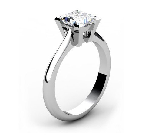 Handmade Solitaire Princess Cut Engagement Ring 4 2