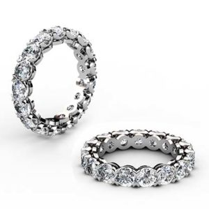 Heart Claw Set Wedding Ring 1 2