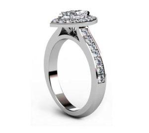 Marquise Diamond Halo Engagement Ring 4 2