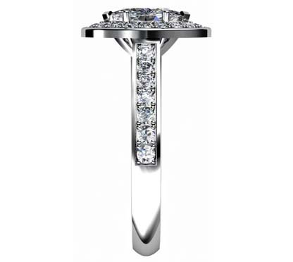 Marquise Diamond Halo Engagement Ring 5 2