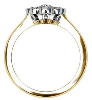 Marquise Vintage Style Halo Diamond Ring 3 2