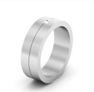 Mens Double Princess Cut Wedding Band 2
