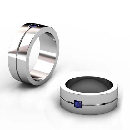 Mens Sapphire Wedding Ring 1