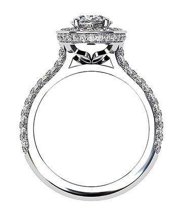 Micro Pave Set Diamond Halo Ring 3 2