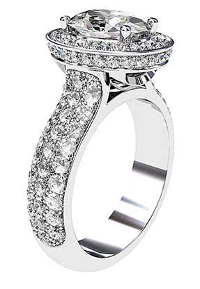 Micro Pave Set Diamond Halo Ring 4 2