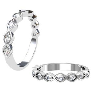 Modern Eclipse Half Eternity Band 1