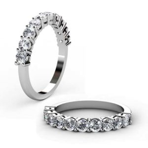 Nine stone double gallery diamond ring 1