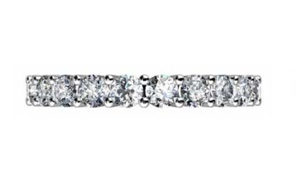 Nine stone double gallery diamond ring 2