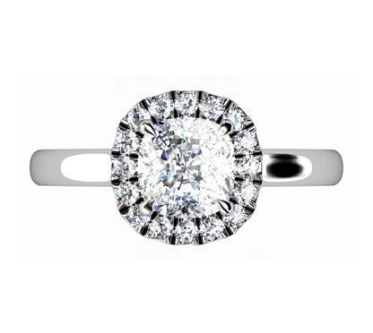 One Carat Cushion Cut Diamond Engagement Ring 2 3