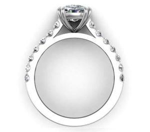 One Carat Cushion Cut Diamond Engagement Ring 3 1 2