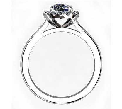 One Carat Cushion Cut Diamond Engagement Ring 3 3