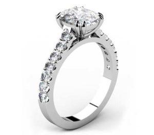 One Carat Cushion Cut Diamond Engagement Ring 4 1 2