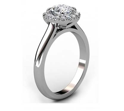 One Carat Cushion Cut Diamond Engagement Ring 4 3