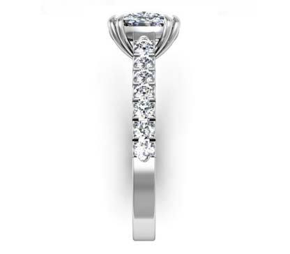 One Carat Cushion Cut Diamond Engagement Ring 5 1 2
