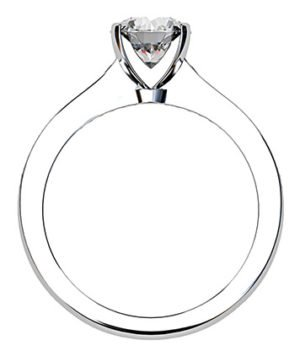 Open V Claw Round Diamond Engagement Ring 3 3