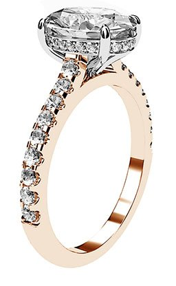 Oval Cut Diamond Ring with Hidden Halo 4 2