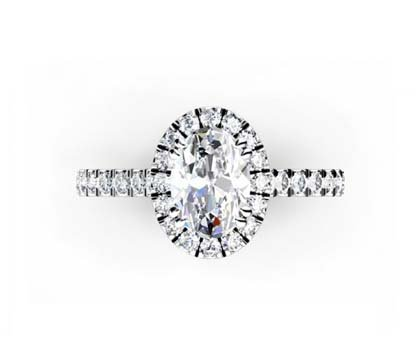 Oval Diamond Halo Engagement Ring 2 2