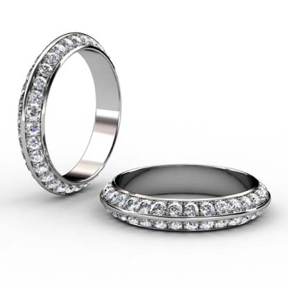 Pave set knife edge diamond ring 1
