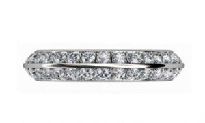 Pave set knife edge diamond ring 2