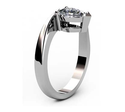 Pear Cut Diamond Engagement Ring with Twisted Band 4 2