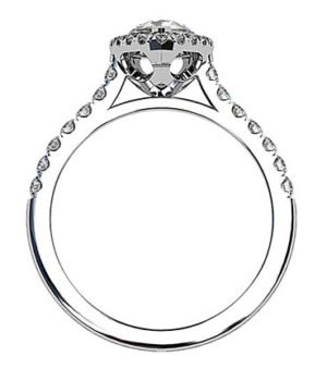 Pear Shape Halo Diamond Ring With Unique Basket 3 2