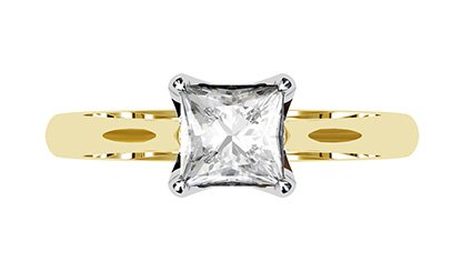 Petal Style Princess Cut Solitaire Diamond Ring 2 2