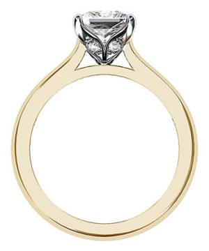 Petal Style Princess Cut Solitaire Diamond Ring 3 2
