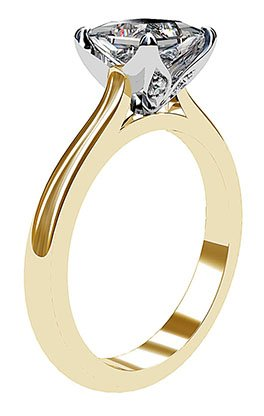 Petal Style Princess Cut Solitaire Diamond Ring 4 2