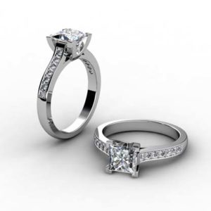 Princess Cut DIamond Engagement Ring 1 2