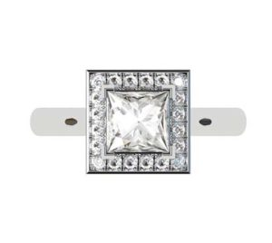 Princess Cut Diamond Halo Engagement Ring 2 5