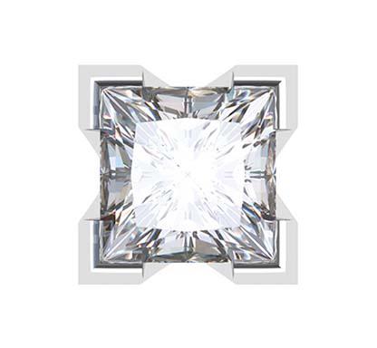 Princess Cut Diamond Stud Earrings in a V Shape Setting 3 2