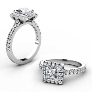Princess Cut Halo Engagement Ring 1 2