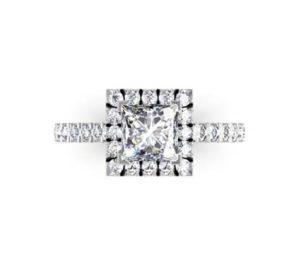 Princess Cut Halo Engagement Ring 2 2