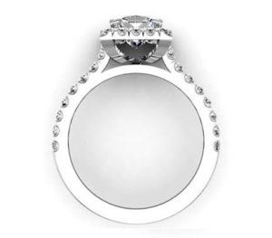 Princess Cut Halo Engagement Ring 3 2