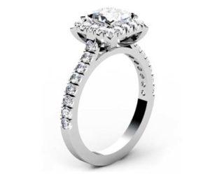 Princess Cut Halo Engagement Ring 4 2