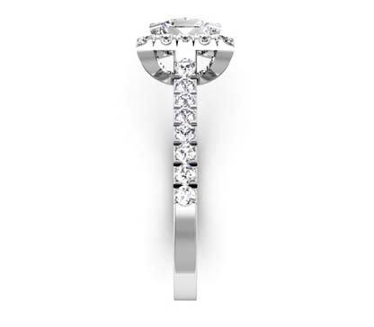 Princess Cut Halo Engagement Ring 5 2