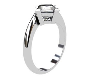 Princess Cut Solitaire Diamond Engagement Ring with Twisted Band 4 2
