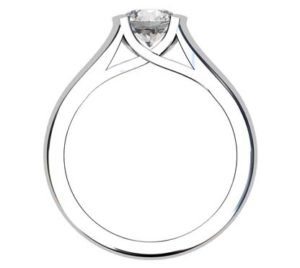 Round Brilliant Cut Bezel Set Solitaire Engagement Ring with X Form Basket 3 2