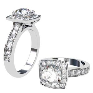 Round Brilliant Cut Diamond Engagement Ring 1 2 2