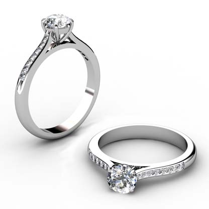 Round Brilliant Cut Diamond Engagement Ring 1 4