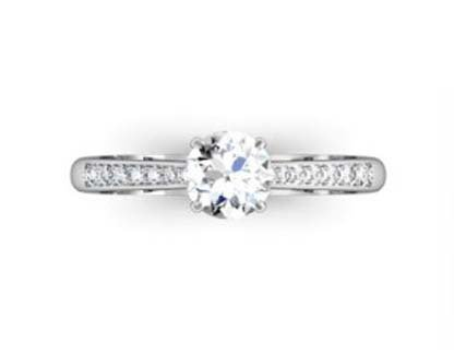 Round Brilliant Cut Diamond Engagement Ring 2 4