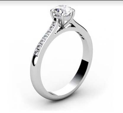 Round Brilliant Cut Diamond Engagement Ring 4 4