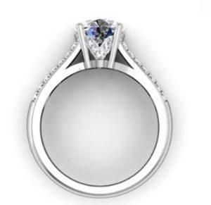 Round Brilliant Cut Diamond Engagement Ring with Split Shank 3 2